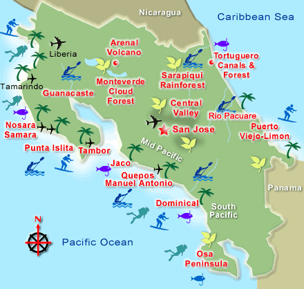General Information Costa Rica Map