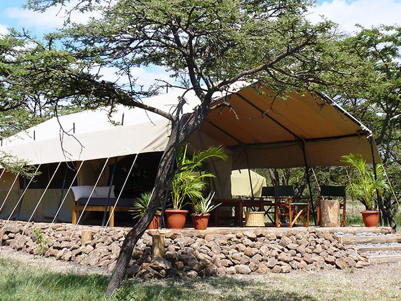 Luxury tent at Rrekero Naboisho Camp